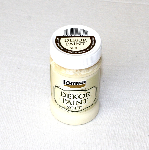 Decor paint soft, 100 ml - slonovinová