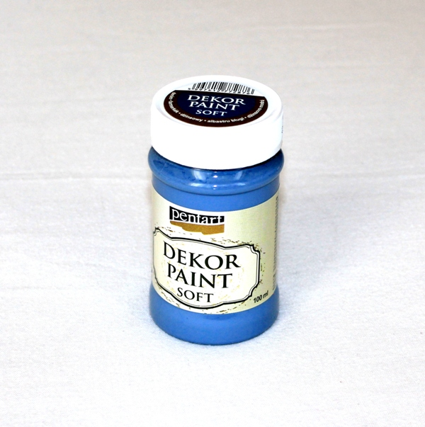 Decor paint soft, 100 ml - džinsovo modrá