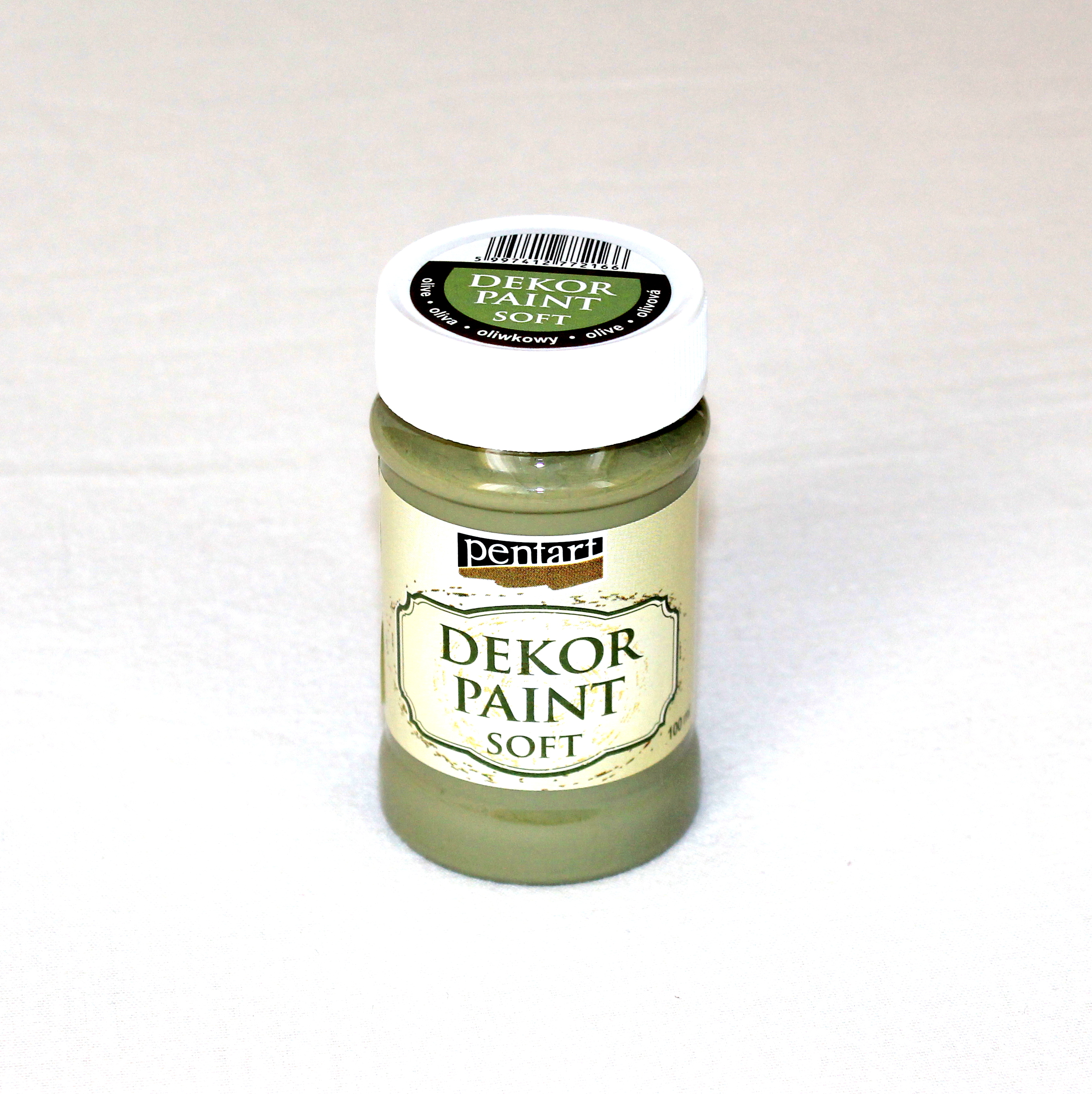 Decor paint soft, 100 ml - olivová