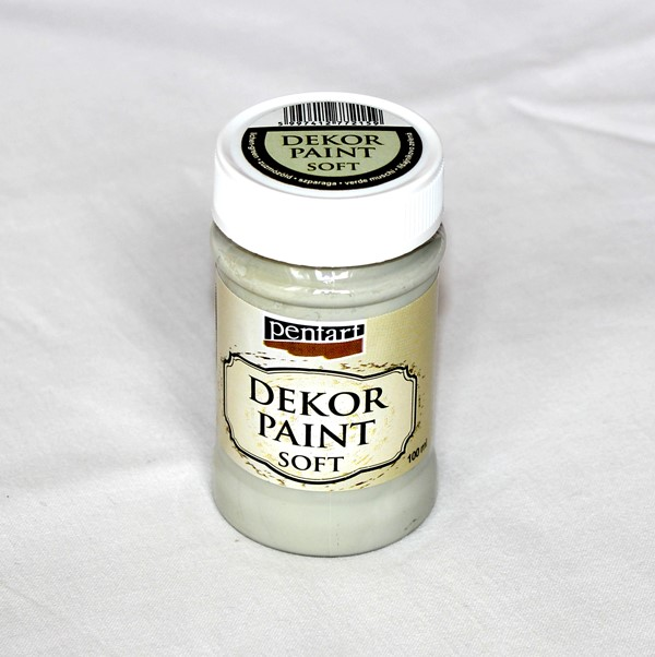 Decor paint soft, 100 ml - lišajníkov zelená